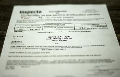 ENVO-DAN er CE-certificeret